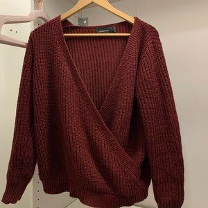 MinkPink wrap knit sweater